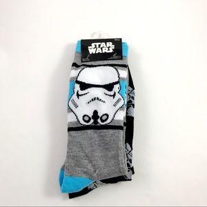 Disney Star Wars Storm Troopers Crew Socks 6-12